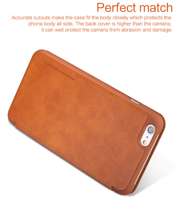 b5109222ac Nillkin PU and PC Material Solid Color Cover Case with Card Holder Function  for iPhone 6