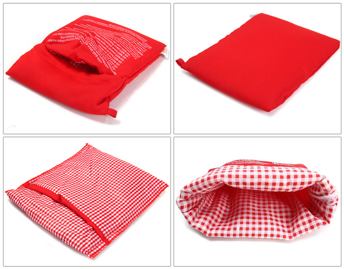 Microwave Oven Baked Potatoes Bag Useful Kitchen Supplies- Red