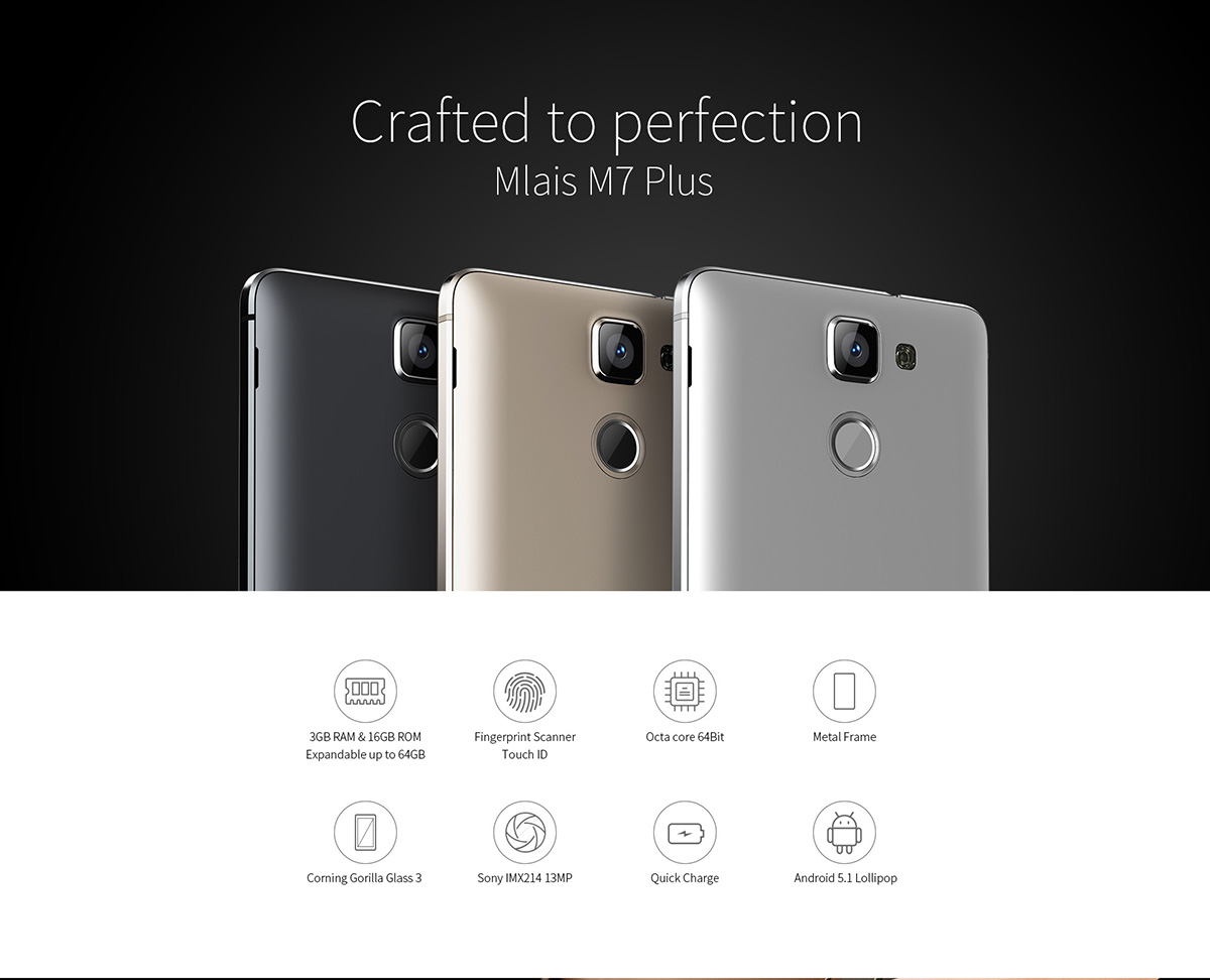 Mlais M7 Plus 4G Phablet - $179.99 Free Shipping|GearBest.com