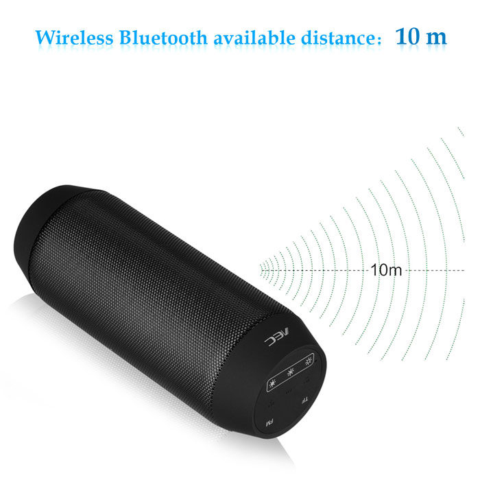 BQ - 615 Portable Magic Dancing Colorful LED Bluetooth V3.0 Speaker with Flashing Lights 3.5mm Audio Port Support TF Card FM Radio- Black