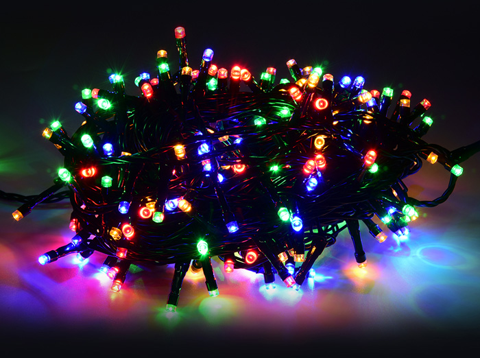 100M 500 LED String Light Low Voltage Water Resistance for Christmas Holiday Wedding Party- Blue and White US Plug