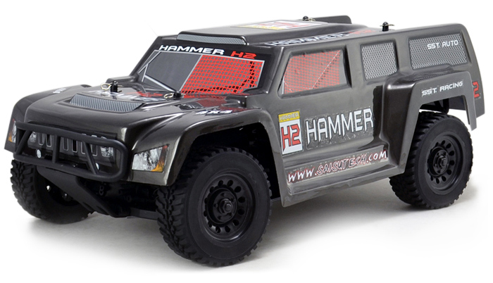 Sst 1933rtr 1 10 Scale 4 Wheel Drive Rc Hammer Car With 3300kv