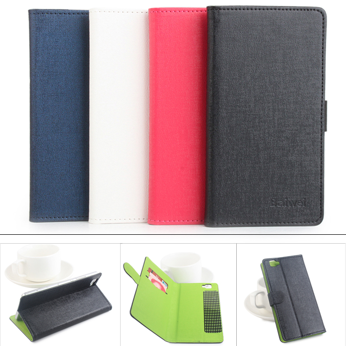 Cubot X15 Fine Leather Protective Cover Case with Stand and Card Holder Function
