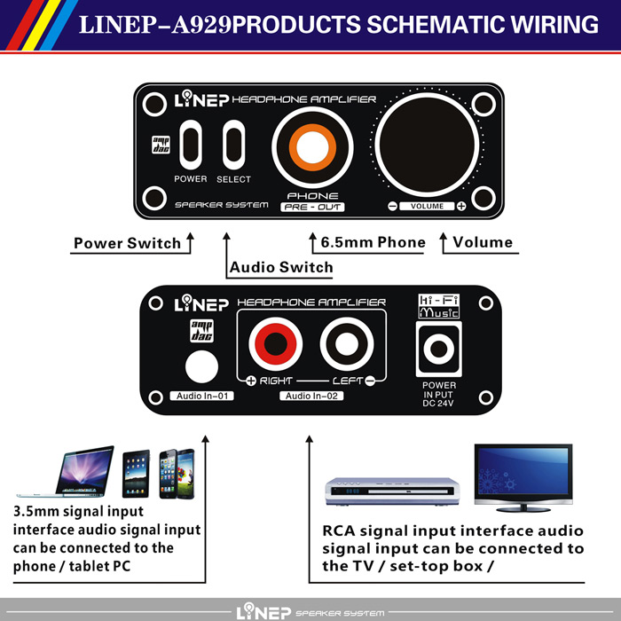 Linep a929 audio headphone amplifier switcher 5357 online linep a929 headphone amplifier switcher high impedance for professional audio equipment greentooth Image collections