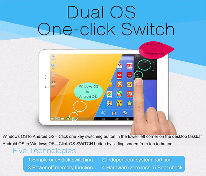 Chuwi Hi8 Android 4 4 + Win10 Tablet PC