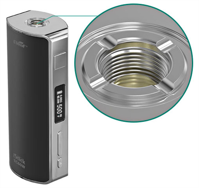 Original Eleaf iStick TC 60W Box Mod with Temperature Control 200 - 600F / VW 1 - 60W ( Simple Version )- Brushed Silver