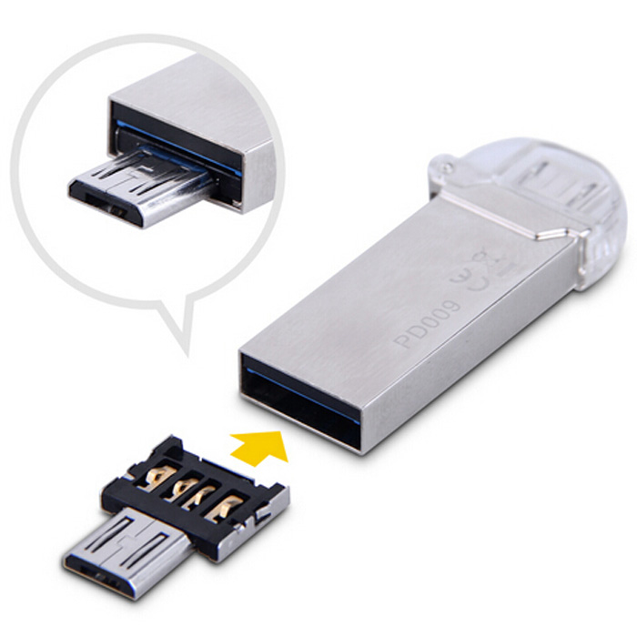 DM USB to Micro USB Male OTG Adapter Compatible with USB Disk / Phone / Tablet etc.