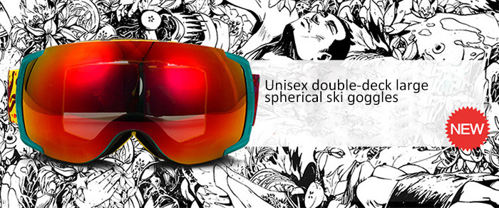 9a77966a12d3 NORTH WOLF NW858 Ski Goggles Full Coated Large Spherical Surface for  Outdoor Skiing- Colorful 01