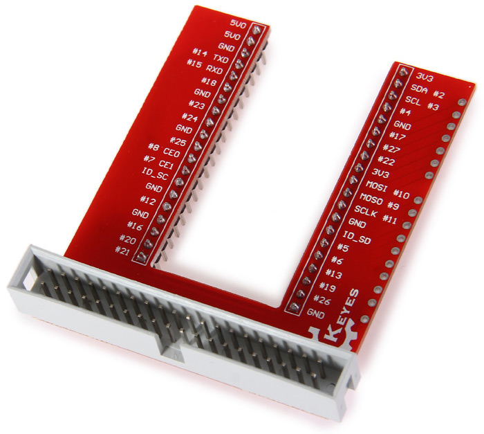 Practical Breadboard Expansion Board with Rainbow 40P Plat Cable for Raspberry Pi