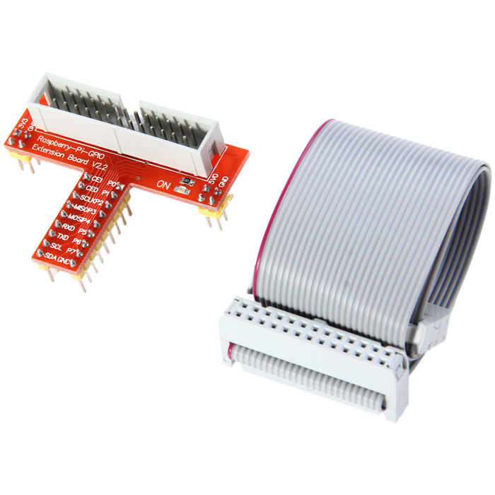 Practical T Style GPIO Adapter Plate Board + Expansion Cable Line 26Pin for Raspberry Pi
