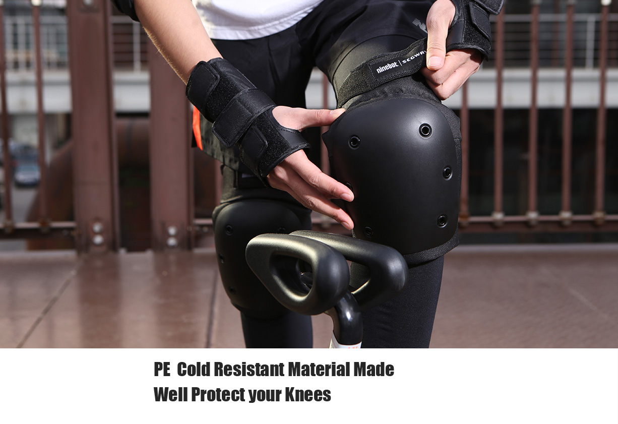 Original Xiaomi Ninebot Knee Pad Elbow Guard Helmet Bracer Pad Set- Black S