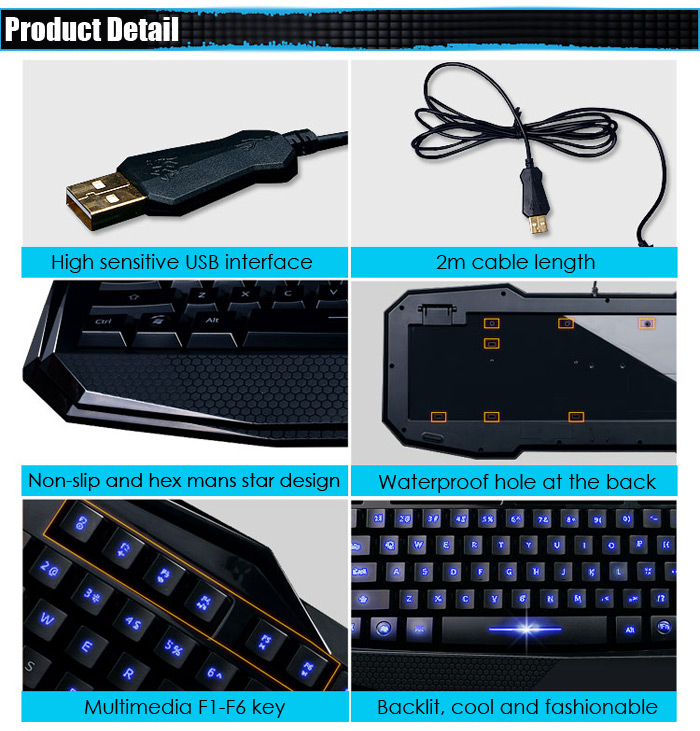 AULA Broken Soul Wired USB Gaming Keyboard / Mouse Kit