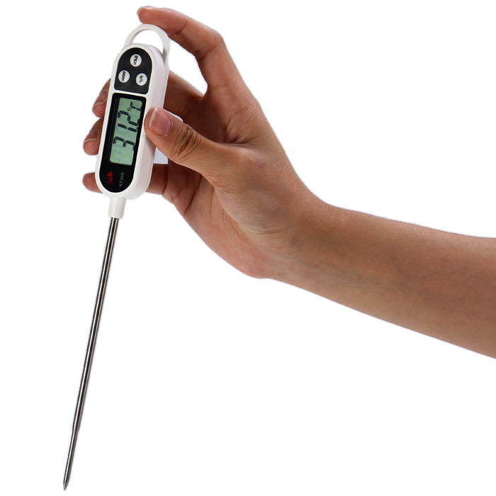 KT300 LCD Digital Thermometer Probe Type for Water Temperature / Liquid / Paste
