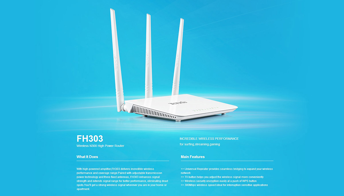 Tenda FH303 WiFi Router - $35.73 Free Shipping|GearBest.com