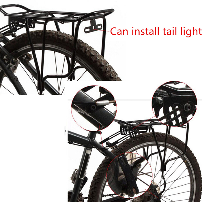 Hot Bike Rear Pannier Rack Connector Carry Carrier Seatpost Bicycle Adapter Y kr