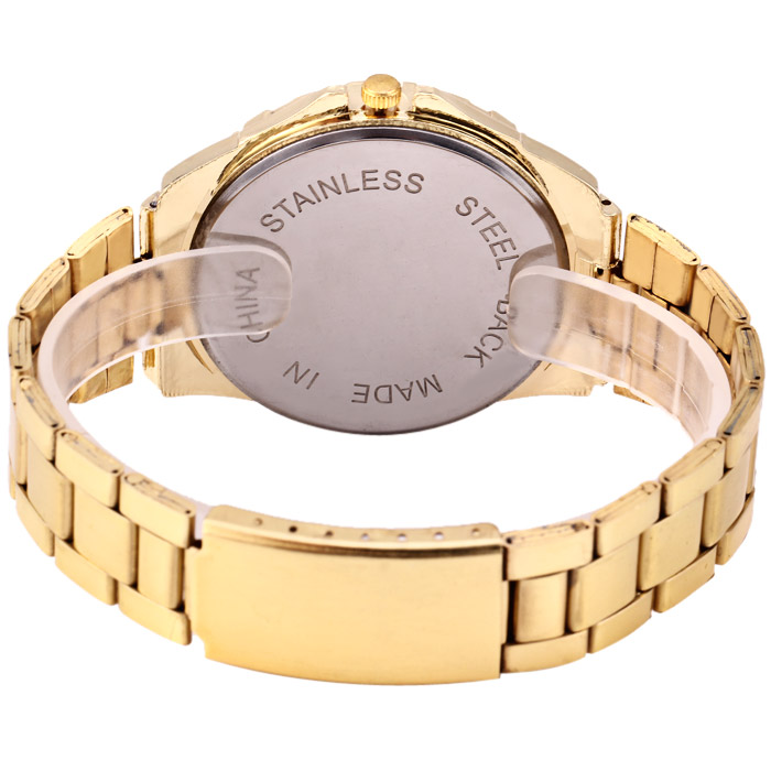 MH 8034 Golden Case Quartz Watch for Men