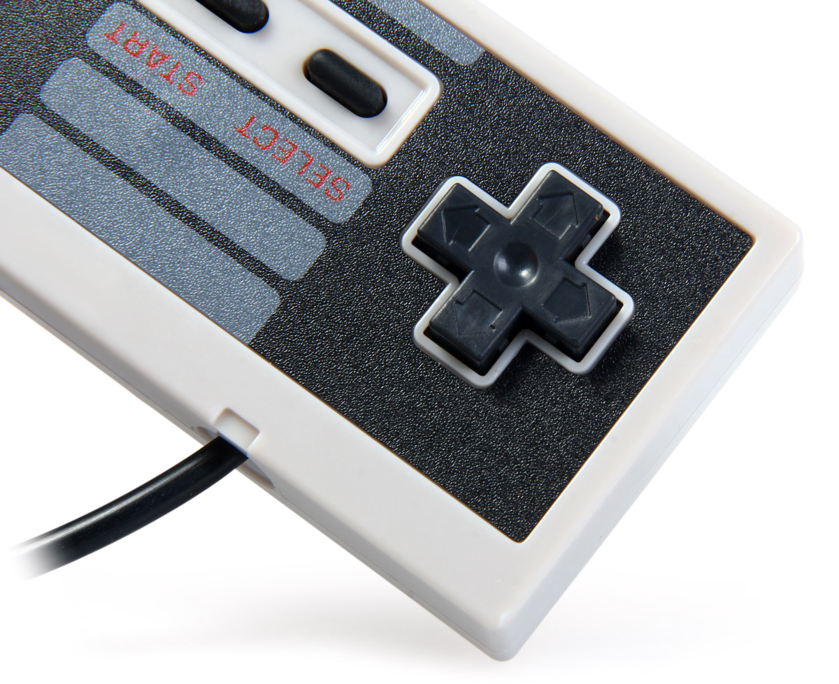 Only used for NES simulator. ○ 2 function button: A and B. ○ It is very suitable for fighting game because of its exquisite cross key.