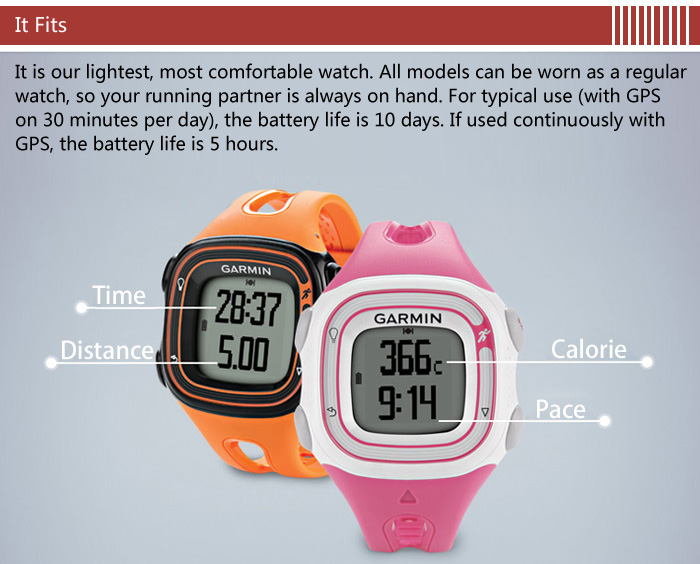 GARMIN Forerunner 10 GPS Smart Watch with Sports Tracking Function