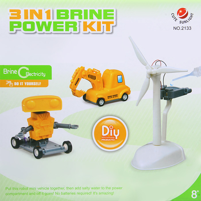 CUTESUNLIGHT Fuel Cell Robot Car Green Energy Toy Kit Intelligent Toy DIY  Fun Game No 2133