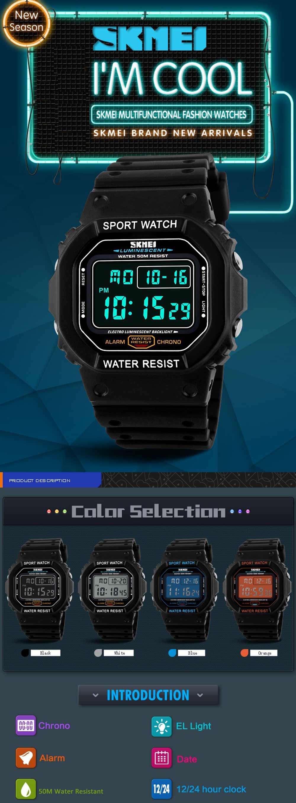 Hearty Men Sports Digital Watch Military Electronic Wrist Watch Solar Power Dual Time Display Water Resistant Watch Relojes Watches Men's Watches