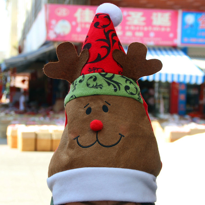 Cute Elk Style Christmas Hat Props for Theme Party Decors