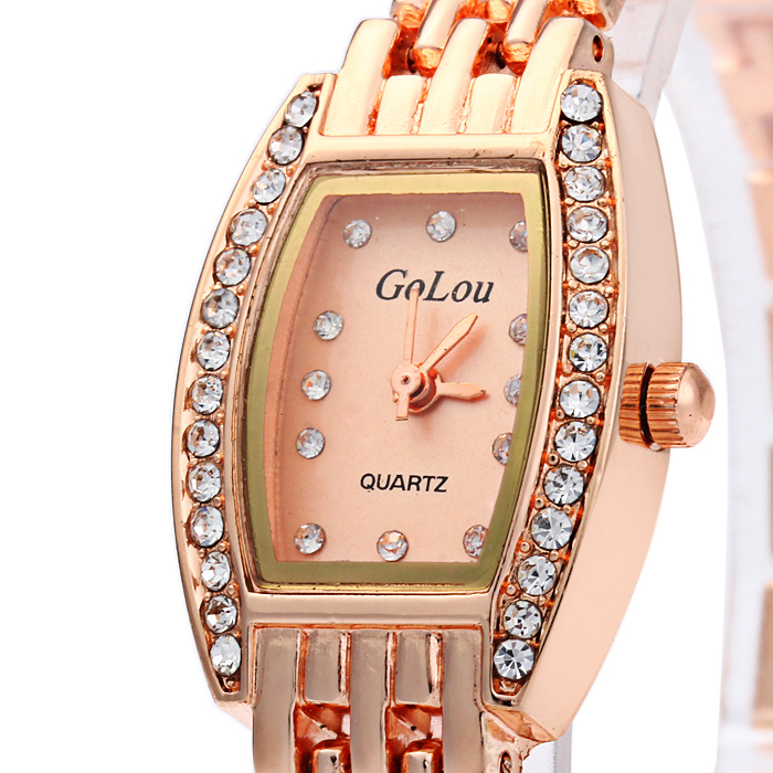 Golou L-616 Diamond Female Quartz Chain Watch