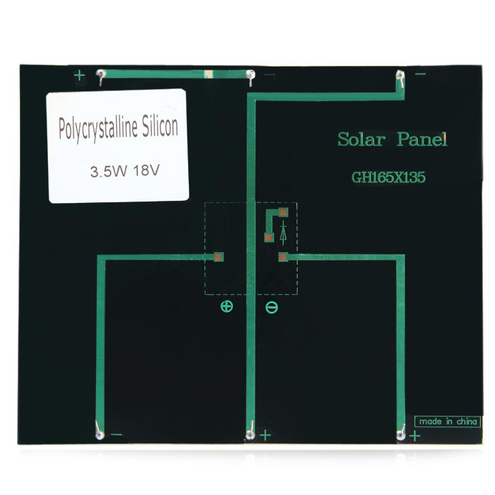 3.5W 18V Polycrystalline Silicon Solar Cell for Making Experiments