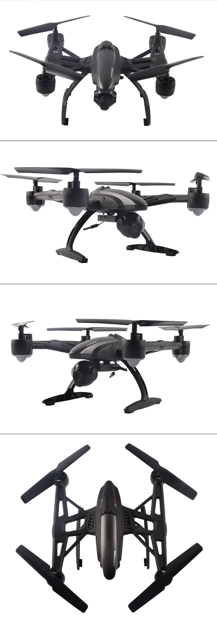 Jxd 509g 58g 092mp Camera Rc Quadcopter 9063 Free Shipping Bayangtoys Drone X 16 With Gps Wifi 2 Mega Pixel Putih Real Time Fpv Headless Mode Light