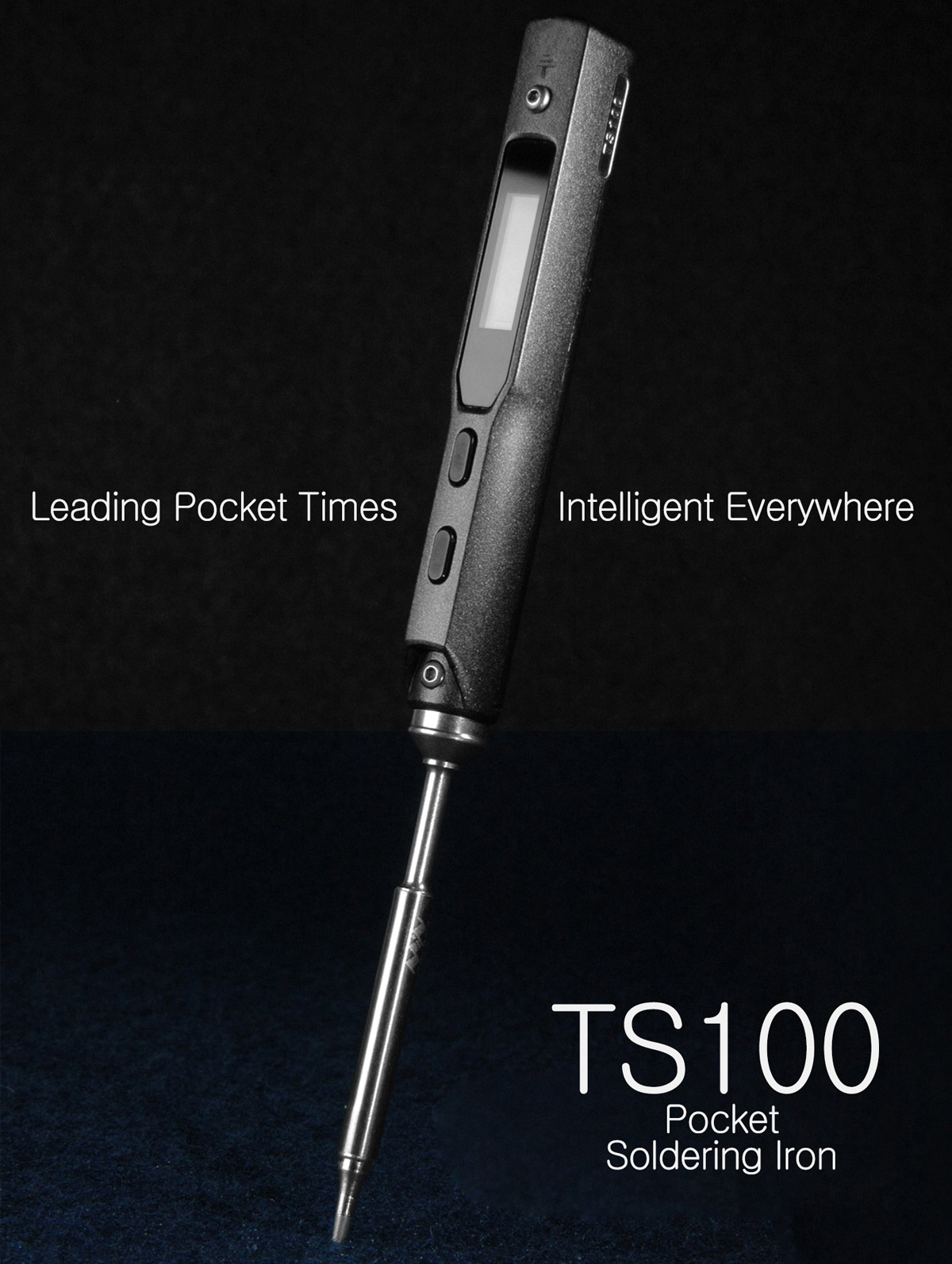 TS100 65W Digital OLED Programmable Soldering Iron