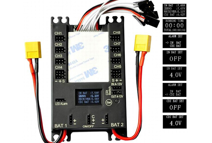 rccskj mini power dp bec pro servo section board built in 20a bec RTF Electric RC Trainer Planes RC Servo Wiring-Diagram 9ch rc plane wiring diagram