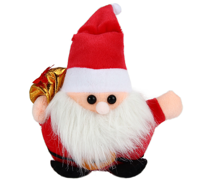 7 inch Santa Claus Plush Toy with Suction Cup Christmas Decoration Birthday Gift