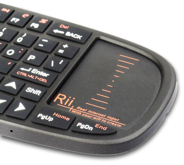 27ba6424900 Rii i10 Mini Wireless 2.4GHz 70 Key Keyboard with TouchPad / Laser Pointer  for PC