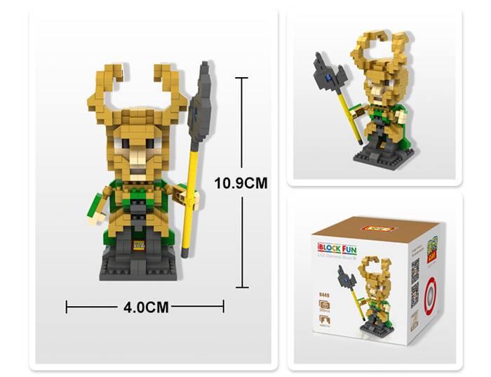 LOZ 350Pcs L - 9449 The Avengers Loki Building Block Educational Toy Christmas Present
