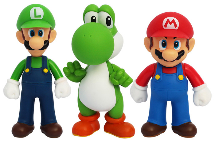 Cool models: Super Mario character model toys. Styles: Every piece has its own personality and pose. Decoration: Good decoration to your table, bookshelf