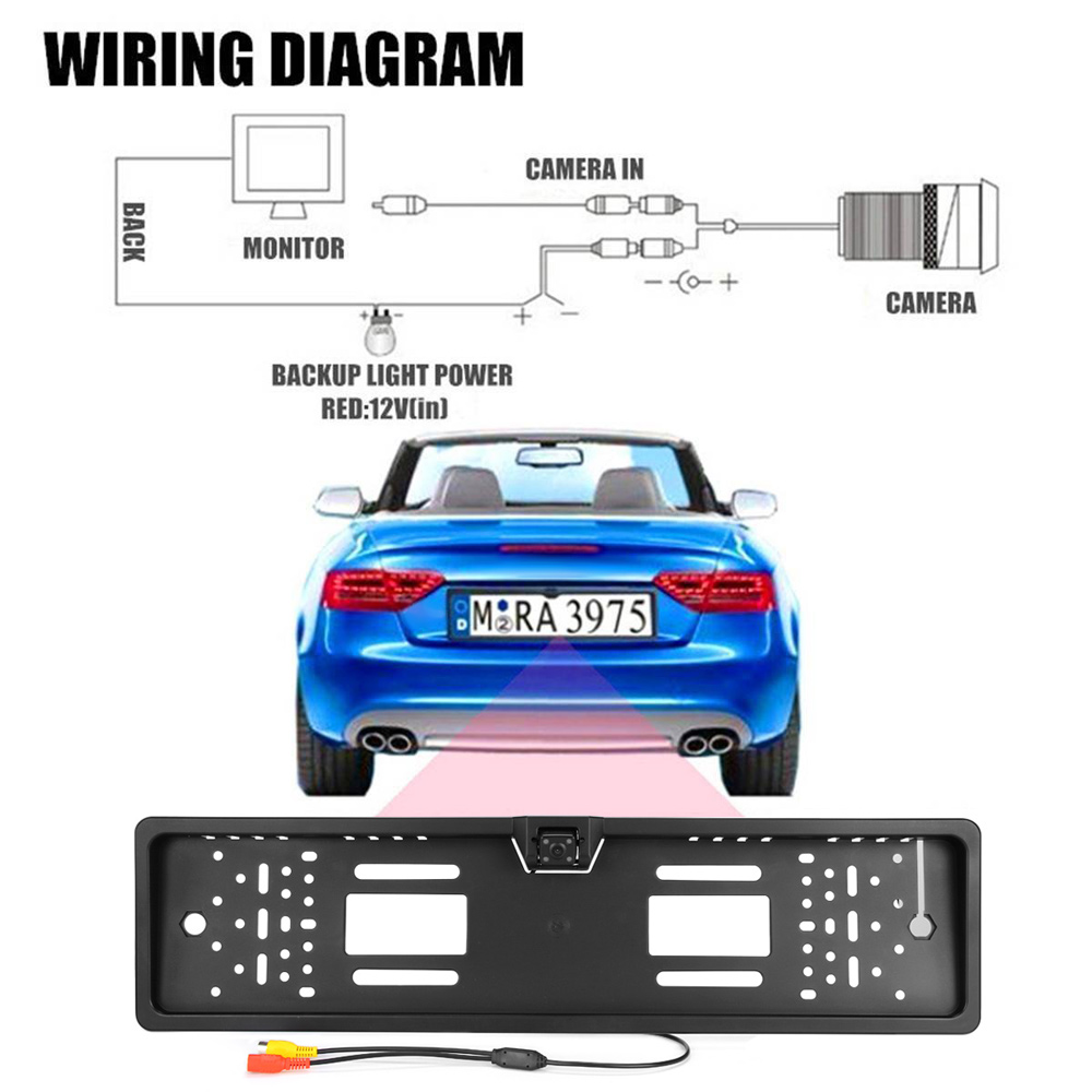 European Car License Plate Rear View Camera - $21.14 Free Shipping ...