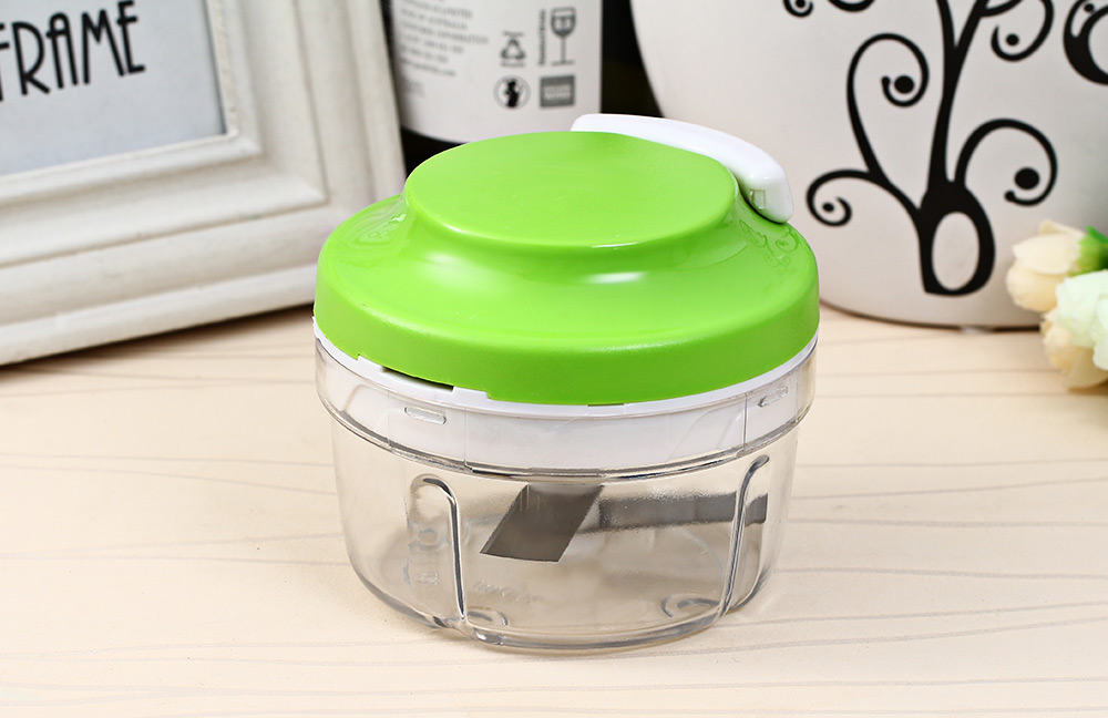 Kitchen Spiral Slicer Food Speedy Chopper Dicer Meat Fruit Cutter Mixer Salad Crusher- Green