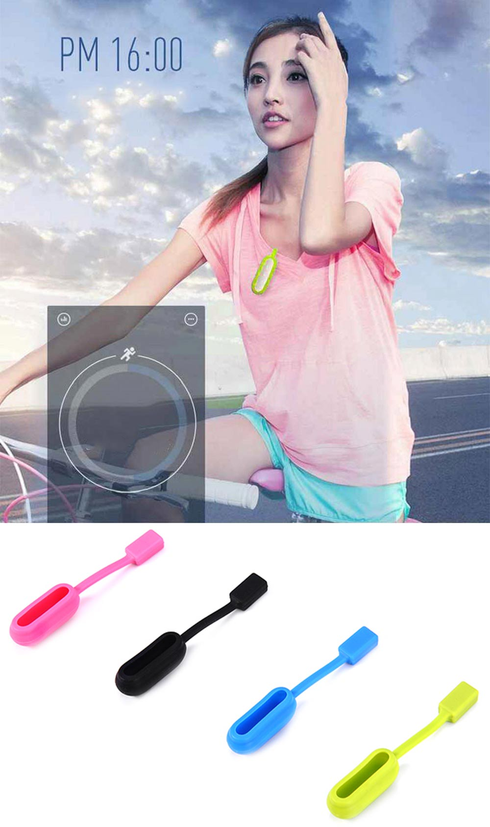 Silicone Magnetic Clasp Clip Case Holder for Xiaomi Mi Band