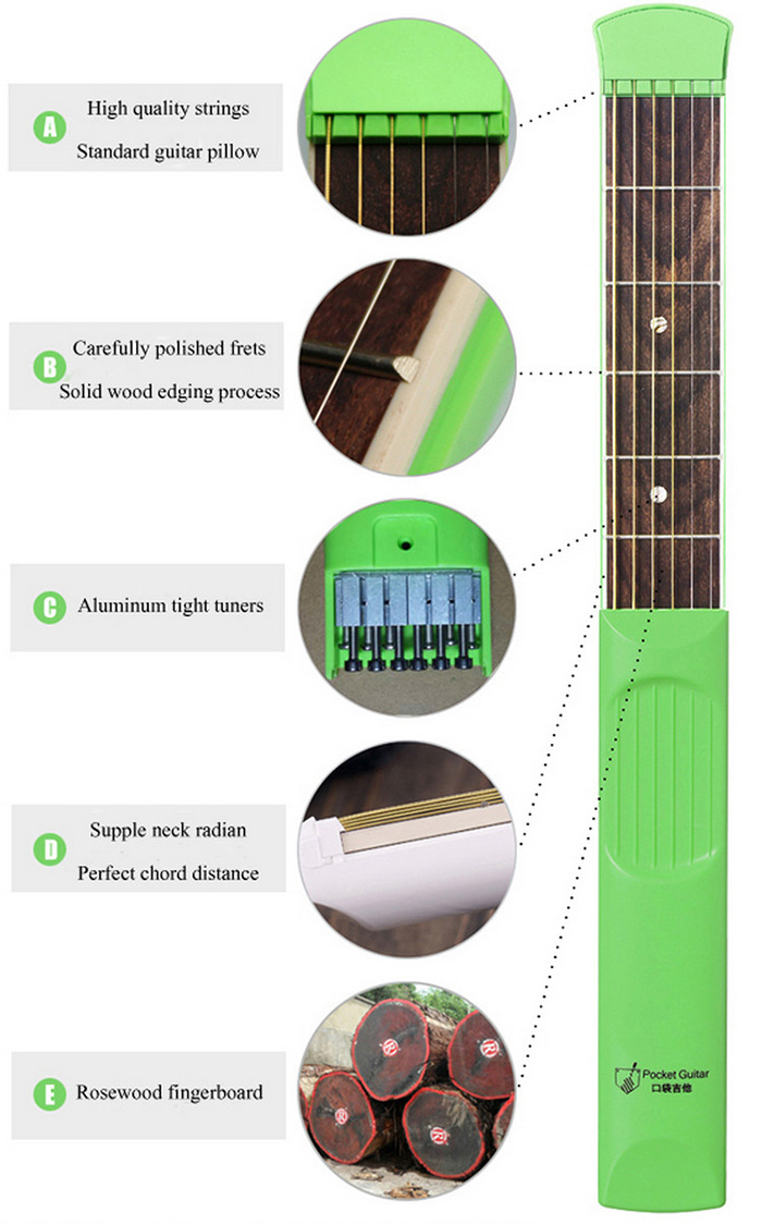 Security & Protection Analytical Portable 4 Fret Pocket Guitar Practice Chord Trainer Wrist Finger Exerciser Kit Guitar Training Tools