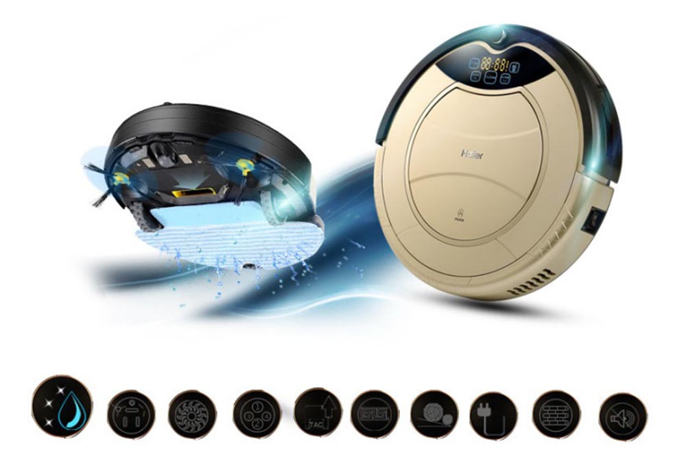 Original Haier SWR Pathfinder Vacuum Cleaner Robot Is Very Suitable For Home Use Just Press The Button Lightly Will Get Down To Clean At Once