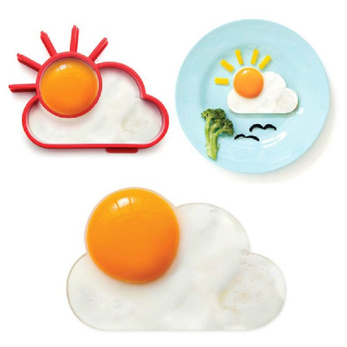 Creative Sun Cloud Silicone Fried Egg Mold Funny Kitchen Gadgets- Red