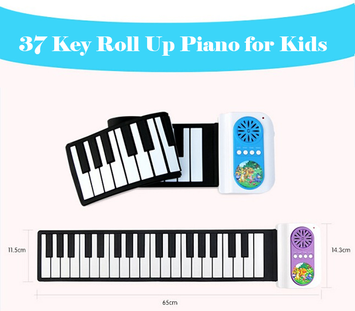 iWord S2037 Roll-up Piano 37 Key High Quality Instrument Gift for Kids