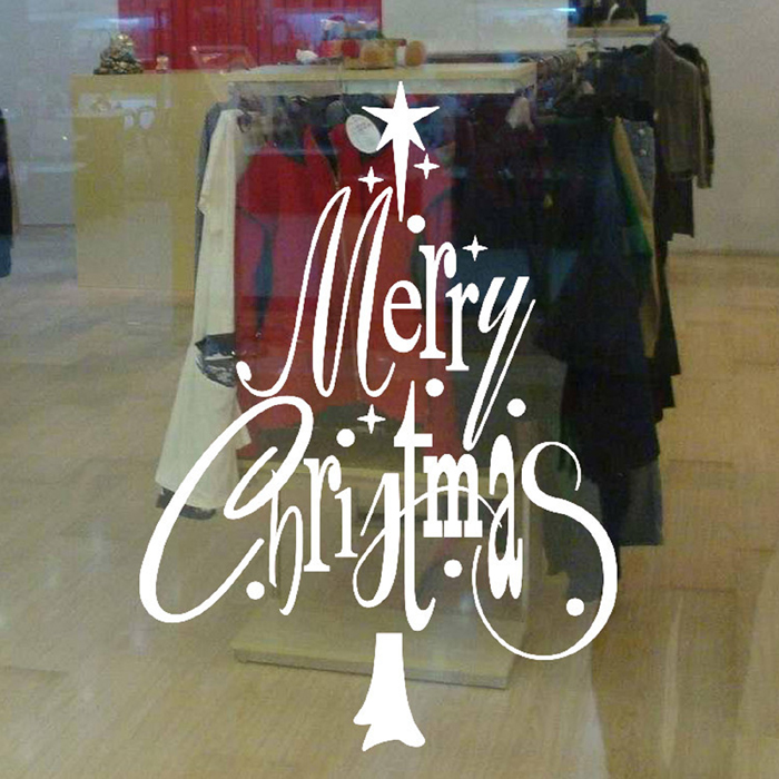 Christmas Decorative Removable PVC Wall Stickers for Xmas Party Festival Ornament
