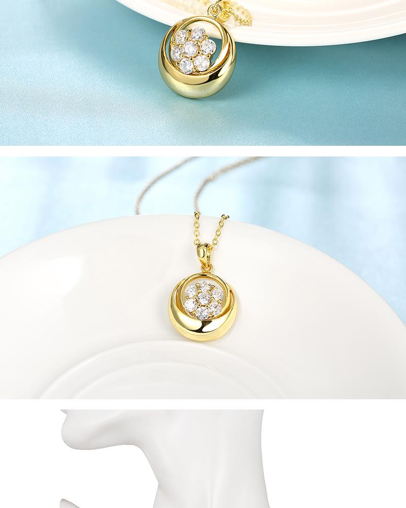 N122 - A Zircon Necklace Fashion Jewelry 24K Gold Plating Necklace