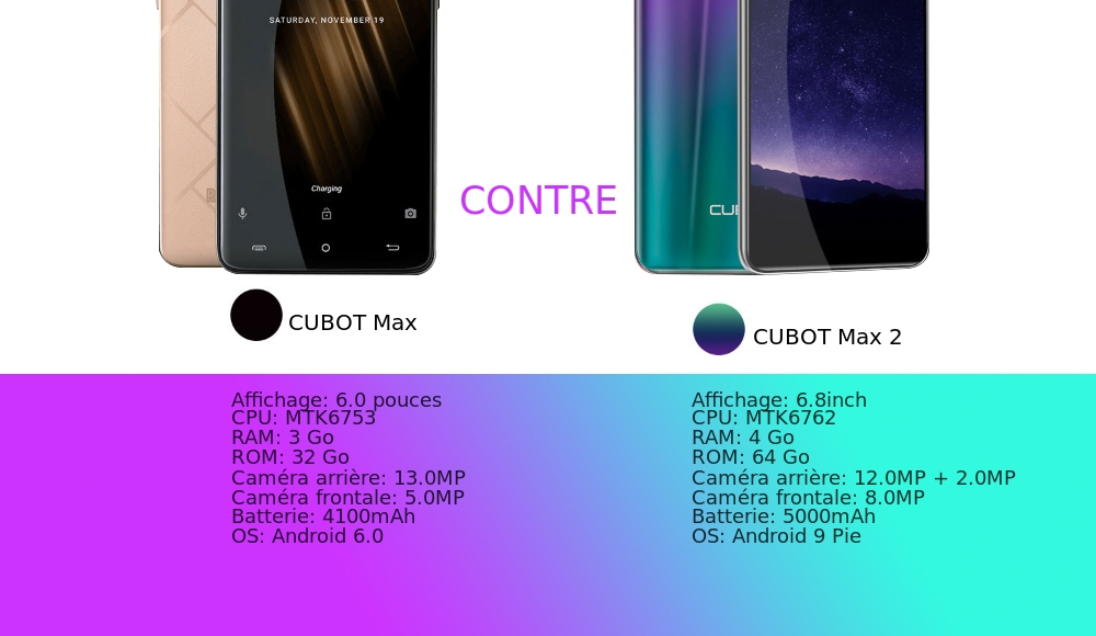 🔥 Promotion > Smartphone 4G CUBOT MAX 2 - code promo
