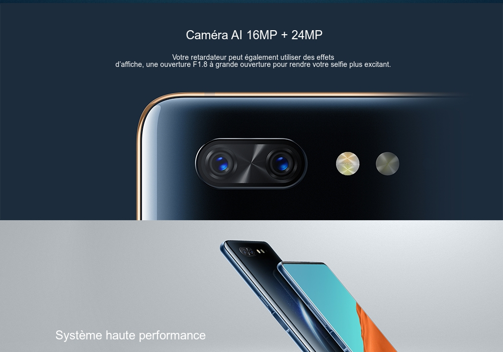 Smartphone 4G Nubia X à Double Ecran Version Internationale- Bleu Océan