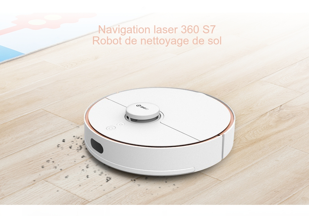 360 S7 Robot de Nettoyage de Sol de Navigation Laser Version Internationale- Blanc