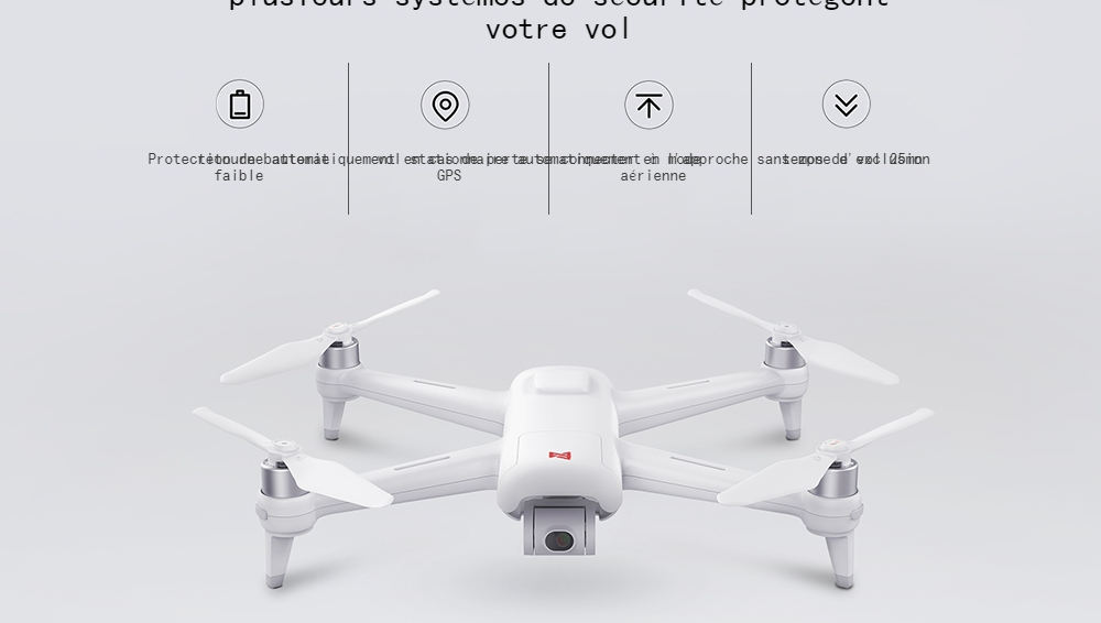 FIMI A3 5.8G 1KM FPV with 3-axis Gimbal 1080P Camera GPS RC Camera Drone Quadcopter RTF - 5.8G FPV - White 2 Batteries