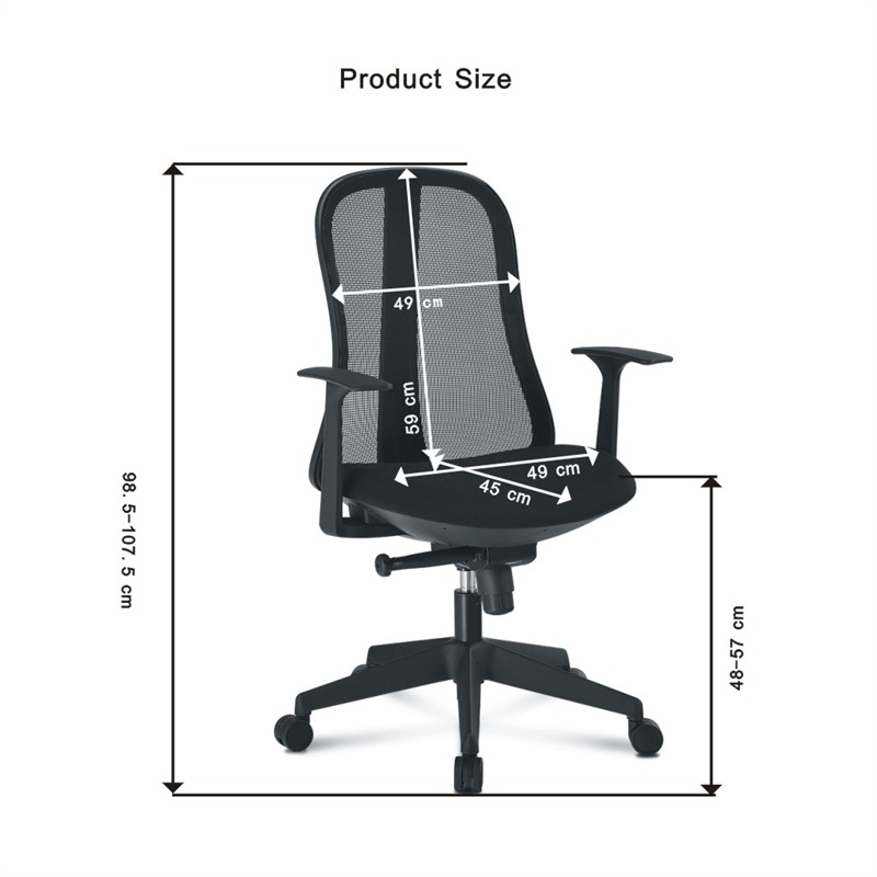 Au Mcb086 Black Langria High Back Black Mesh Swivel Office Chair Task Chair With Three Position Lock And Synchronous Tilt Mechanism Sale Price Reviews Gearbest