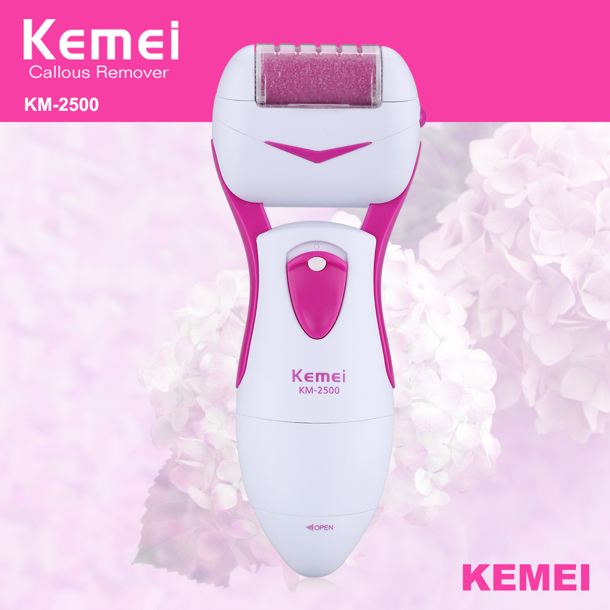Electric Foot Pedicure Machine Professional Feet Care Tools+ 2 Replacement Heads Dead Skin Callous Remover