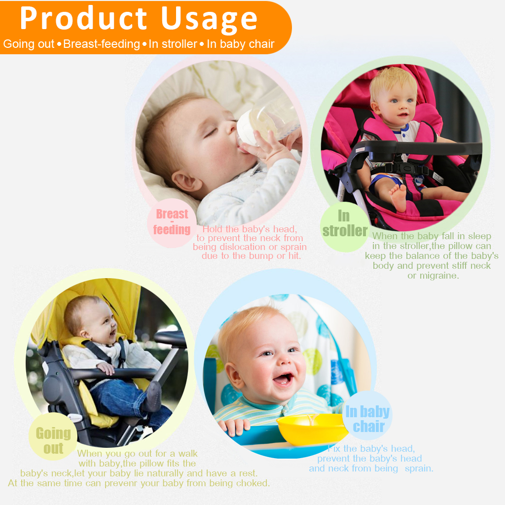 Baby neck pillow u shaped travel pillow car seat cushion baby toys cushion pillow lion